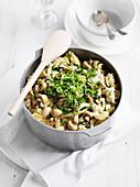 Chicken, Fetta and Mushroom Pasta