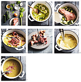How to make Zucchini and ham hock soup