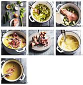 Zucchinisuppe mit Schinken zubereiten (Glutenfrei)