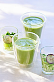 Green gazpacho in a glass