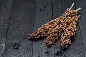 Millet on a wooden surface