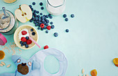 Healthy ingredients for a child's breakfast