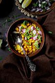 Linsen-Curry mit Fleisch (Indien)