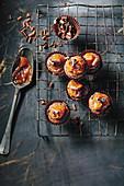 Brownie caramel cupcakes