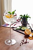Wodka-Cocktail in elegantem Stielglas