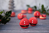 Father Christmas macaroons