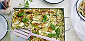 Courgette herb lasagne