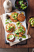 Zucchini slice fritters with chilli guacamole