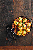 Classic beef and red wine stew with cheesy dumplings