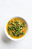 Turmeric, lentil and lemon soup
