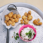 Crispy cauliflower with an almond crust
