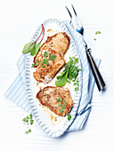 Parmesan schnitzel with chervil