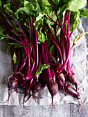 Beetroot on a linen cloth