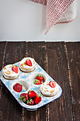 Strawberry Meringue Cupcakes
