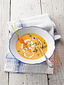 Velvety carrot and ginger soup