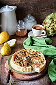 Birnenkuchen mit Pistazien