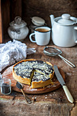 Poppy seed quark pie