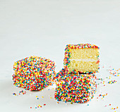 Fairy Bread Lamingtons (Australian dessert mix)