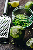 Freshly grated lime zest