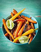 Lime glazed baby carrots