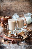 Spiced tea with milk
