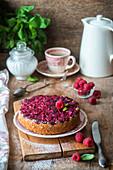 Upside down raspberry cake
