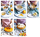 Einen Orangenblüten-Trifle-Kuchen zubereiten