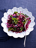 Beetroot and red cabbage salad
