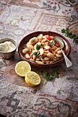 Foul Mdamas (bean and tomato salad from Syria)