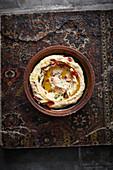 Humus Baliban (Hummus mit Joghurt, Syrien)