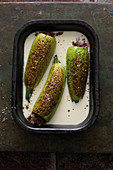 Kosa Belaban (stuffed courgettes in a yoghurt sauce, Syria)