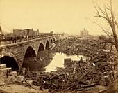 Stone Bridge after Johnstown Flood, 1889