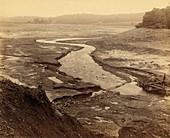 Empty reservoir after Johnstown Flood, 1889