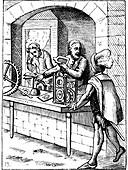 16th Century watchmakers, 18th Century illustration