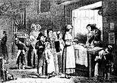 19th Century bakery, illustration