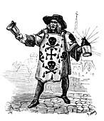 17th Century death announcer, illustration