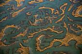 Ria Formosa, Algarve, Portugal, aerial photograph