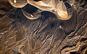 Ubehebe crater, Death Valley, USA, aerial photograph