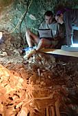 Excavation at the Cova des Pas prehistoric site