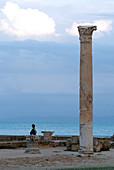Column at Baths of Antoninus, Carthage