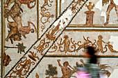 Roman mosaic in the Bardo Museum, Tunisia