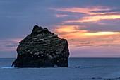 Sunset over Eldey Island, Iceland