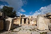 Ruins at the Tarxien temple complex, Malta
