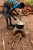 Woman cooking a meal