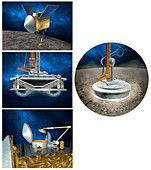OSIRIS-REx asteroid sampling mechanism, illustration