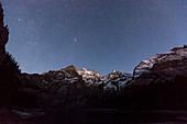 Night sky over the Swiss Alps