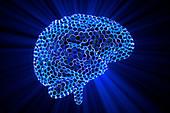 Artificial brain, conceptual illustration