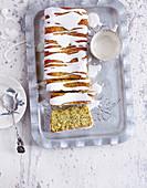 Lemon cake with chia seeds