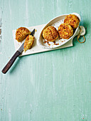 Chicken meatballs with a coconut coating