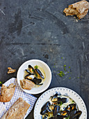 Mussels in a fennel broth